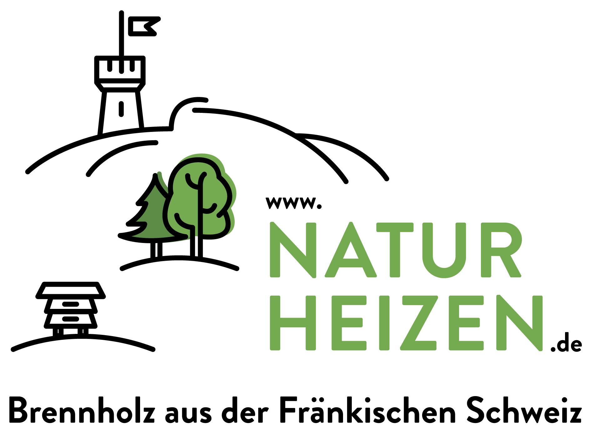 Brennholz aus der Fränkischen Schweiz, Logo naturheizen
